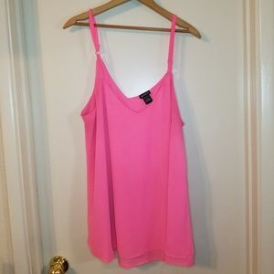 Pink Chiffon Torrid Size 1 top